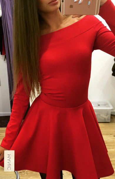 Red dress outfit fall