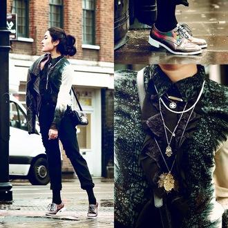 alessandra kamaile blogger blouse jeans jacket shoes bag