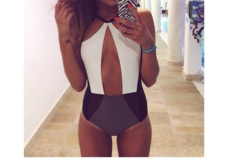 swimwear swimsuite bikini grey swimwear white swimwear halter neck
