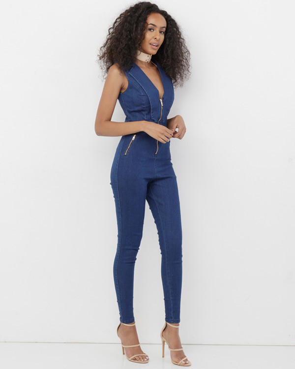 jumpsuit blue blue jumpsuit denim denim jumpsuit stretch stretch jumpsuit