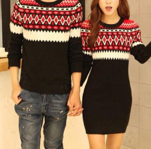 sweater couple sweaters cute sweater cute dress beautiful couple