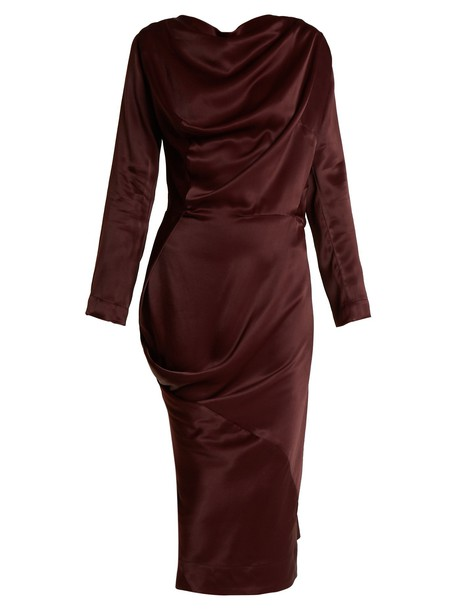 Vivienne Westwood Anglomania dress satin dress new satin burgundy