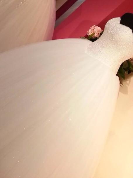 dress princess wedding dress dream dress white wedding dress glitter dress