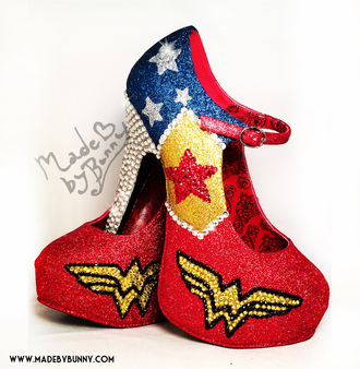 shoes wonder woman superheroes heels wonder woman heels geekery wonder woman shoes comic book dc