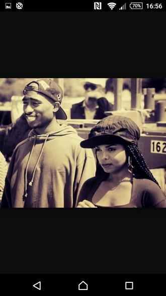hat janet jackson tupacshirt tupac 90s style retro swag nike urban