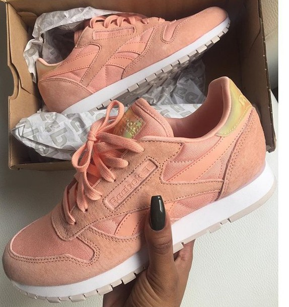 1156784a593 shoes nude pink nude pink reebok shoes sneakers reebok sneakers Reebok  pastel pink reebok shoes pink
