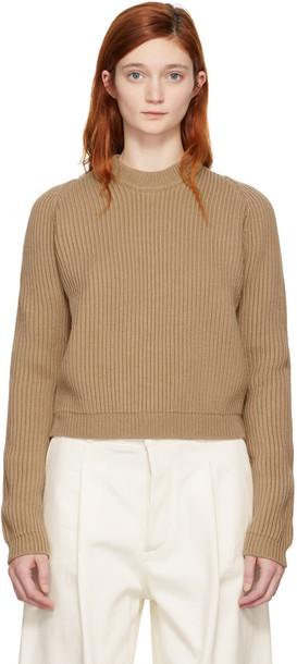 Studio Nicholson sweater crewneck sweater tan