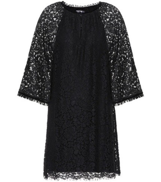 Velvet dress lace dress lace black