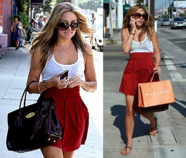 skirt lauren conrad red skater skirt high waisted high waist skirts