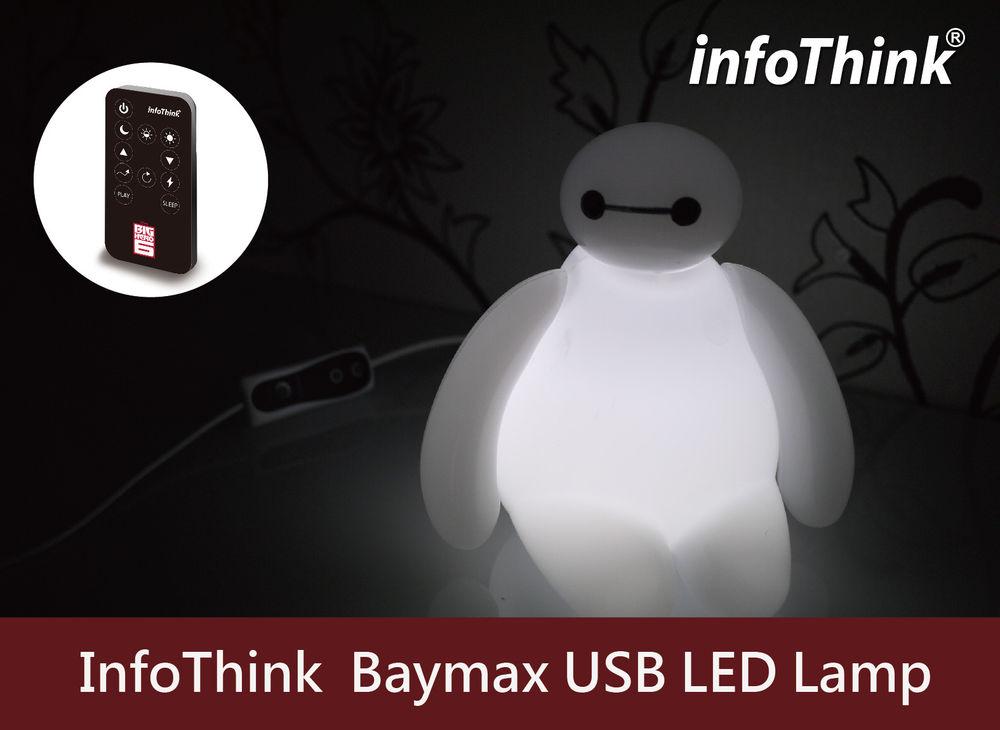 Big Hero 6 Baymax USB LED Lamp - PRE-ORDER Apr, 20 /Disney movie Figure Toy NEW