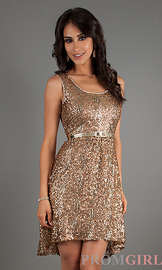 Prom dresses, celebrity dresses, sexy evening gowns at promgirl: short sleeveless sequin dress