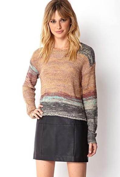 sweater color block simple forever21