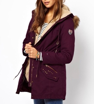 coat red winter coat fourrure hiver winter outfits christmas sweater christmas burgundy bordeau