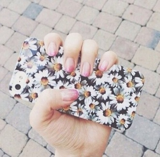 phone cover floral flowers daisy yellow tumblr outfit pastel phone case iphone cover purse/iphone case fashion clothes