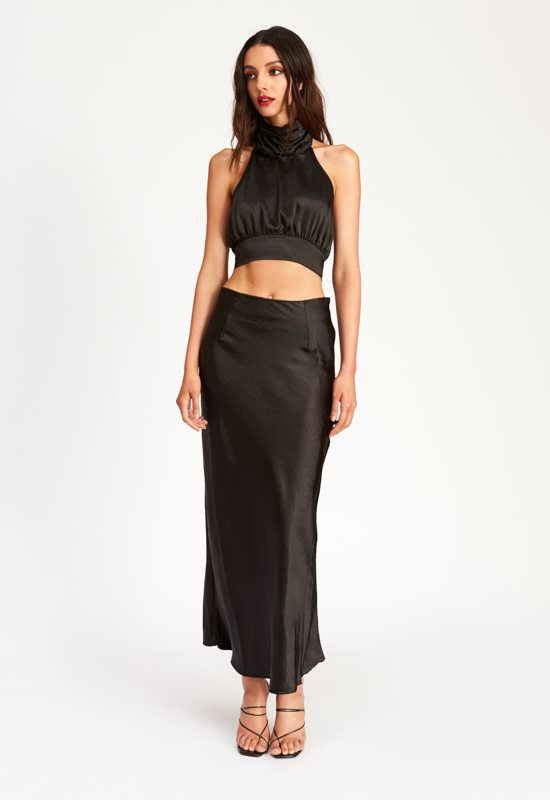 Untamed Nights Maxi Skirt - BLACK - Lioness
