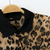 Leopard Contrast Lapel Long Sleeve Blouse - Sheinside.com