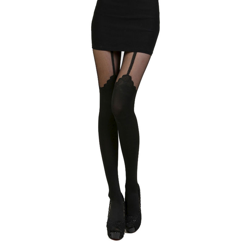 Rose over the knee tights