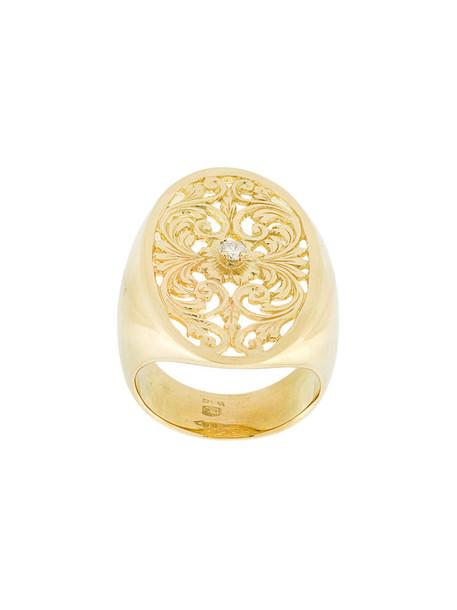 Wouters & Hendrix Gold women ring gold grey metallic jewels