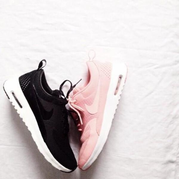 shoes nike sneakers sportswear running nike pink rosa rosa rosa rose pink black