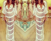 dress,crochet,white,white dress,see through,crochet maxi dress
