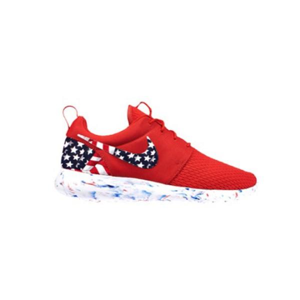 WOMENS SIZE Custom Roshe Run running shoes! American Flag Patriotic ... 37c572c72bb5