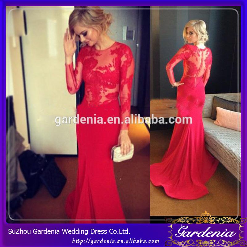 Long Sleeve Bridal Wedding Dresses Red 2014 Hot Sale Sheer Top Scoop Neckline Mermaid Long Wedding Dress (wd-020) - Buy Long Sleeve Bridal Wedding Dresses Red,Sexy Mermaid Wedding Dresses,Lace Mermaid Wedding Dress Product on Alibaba.com