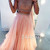 Custom Made Light Pink Two Pieces Long Prom Dress, Evening Dress - 24prom