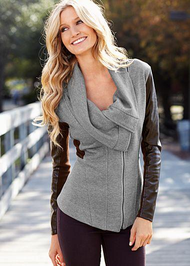 Black Sweater coat from VENUS