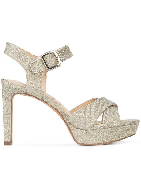 Sam Edelman glitter women sandals grey metallic shoes