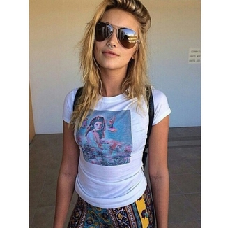 t-shirt top shirt pants tribal pattern indie boho hipster aviator sunglasses piercing alternative alternative t-shirt tumblr outfit tumblr shirt on point on point clothing
