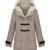 ROMWE | Single Breasted Cream Hoody Coat, The Latest Street Fashion