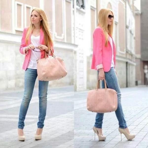 jacket pink blazer