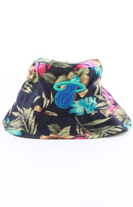 Mitchell & Ness, Miami Heat Hawaiian Print Bucket Hat - Mitchell & Ness - MOOSE Limited