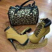 bag,leopard print,animal print,shoes,sunglasses