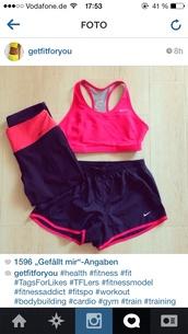 shorts,nike sportswear,blue pink