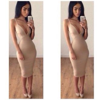 nude dress dress