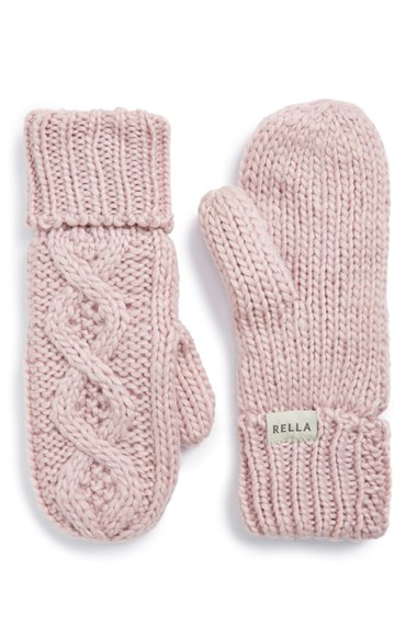 868c5b9c4 Rella 'Betto' Cable Knit Mittens   Nordstrom