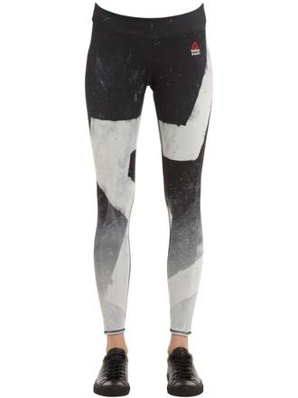 leggings white black pants