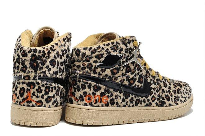 Nike Air Jordan 1 I Leopard Olympics Mens Shoes Cheetah Brown Yellow Online.