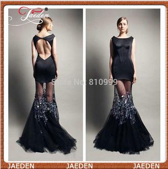 boat neck black dress open back prom dress sexy prom dresses prom dress evening dress