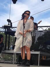 demi lovato,dress,boots,sunglasses,jacket