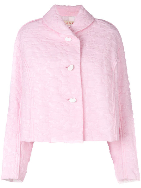 MARNI jacket cropped jacket cropped women quilted purple pink