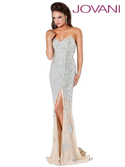 dress jovani prom dress jovani 4247 4247 jovani gown nude silver jovani nude and silver prom dress long prom dresses lilly ghalichi melissa gorga