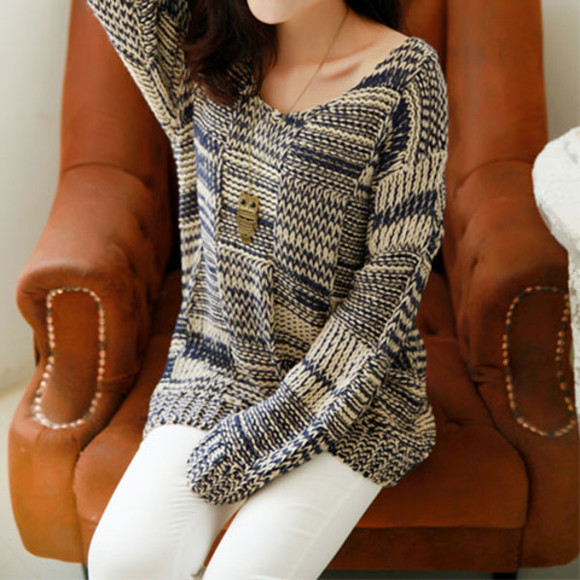 sweater oversize mixing color
