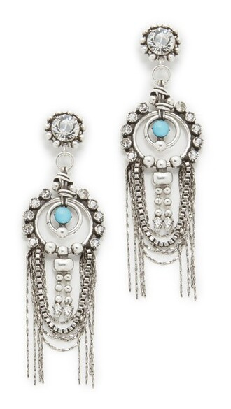 clear earrings silver turquoise jewels