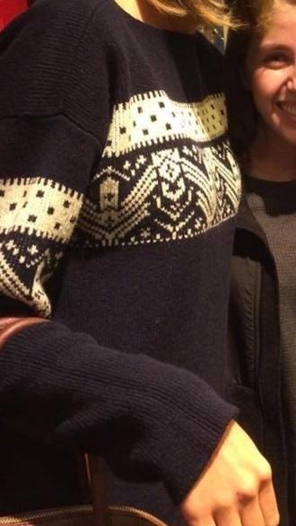 winter sweater blue sweater
