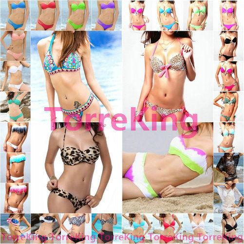 42 Style Hot Sexy Women Lady Bikini Push Up Padded Bra Swimsuit Bathing Swimwear | eBay