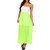 Ivory Neon Green Color-Block Maxi Dress | Emprada