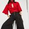 Wide leg zip pants by style mafia - black