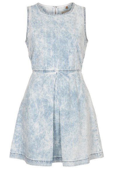 dress denim denim dress mini dress moto stripe denim dress moto stripes striped dress navy blue